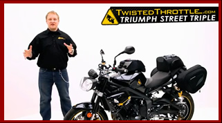 2012 Triumph Street Triple R customized with accessories by Twisted Throttle