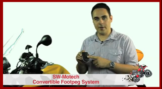 How to install the SW-Motech Convertable Footpeg System from A Vicicous Cycle.ca - YouTube